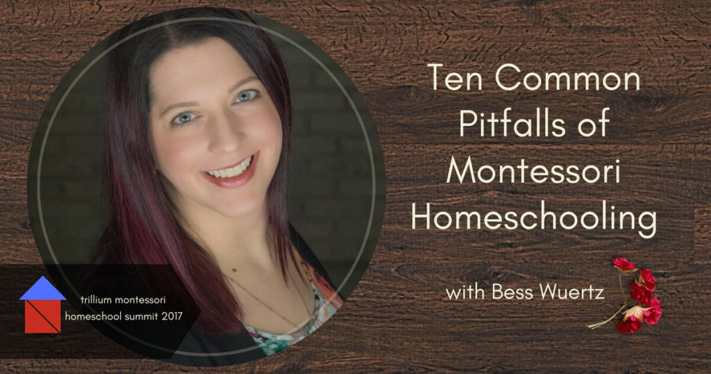 Join us for this 50 minute presentation with practical tips to help you overcome 10 Common Pitfalls of MOntessori homeschooling with Bess Wuertz.
