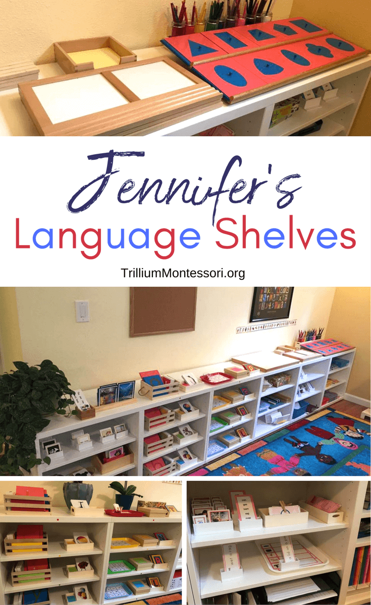 A tour of Jennifer's Montessori language shelves and materials