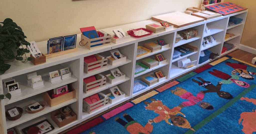 Jennifers Montessori Language Shelves