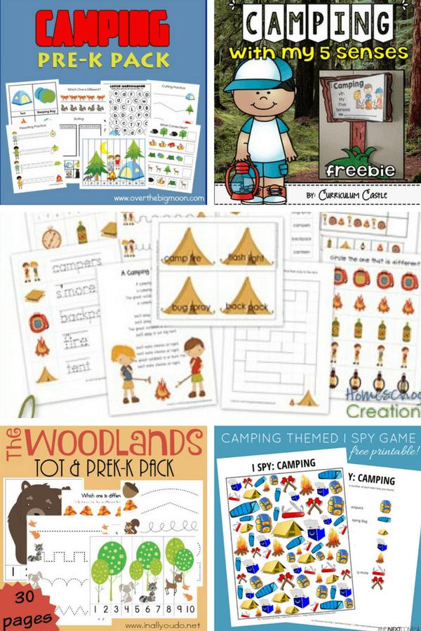 Preschool Activities For A Camping Theme Trillium Montessori