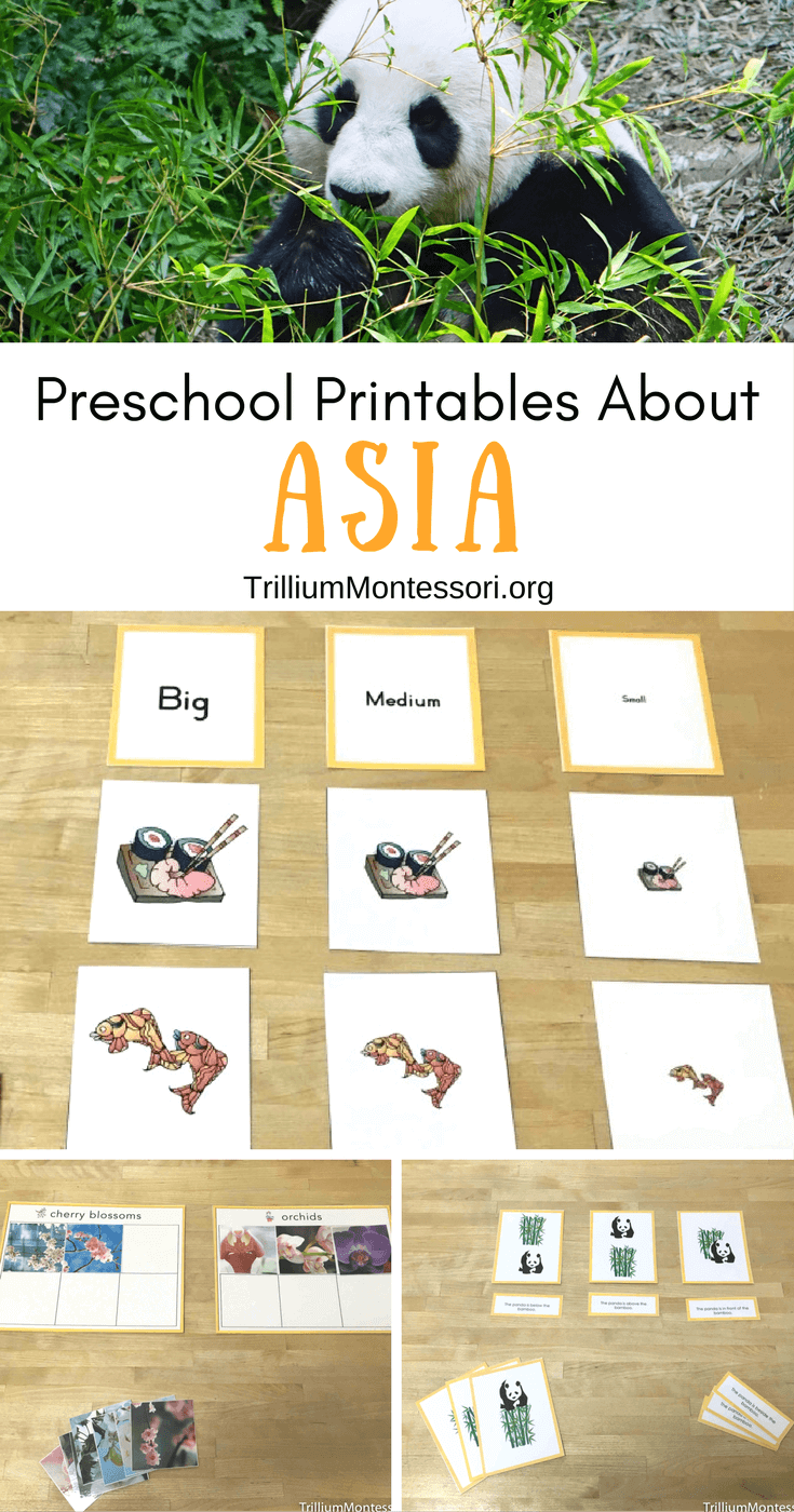 Preschool printables about Asia