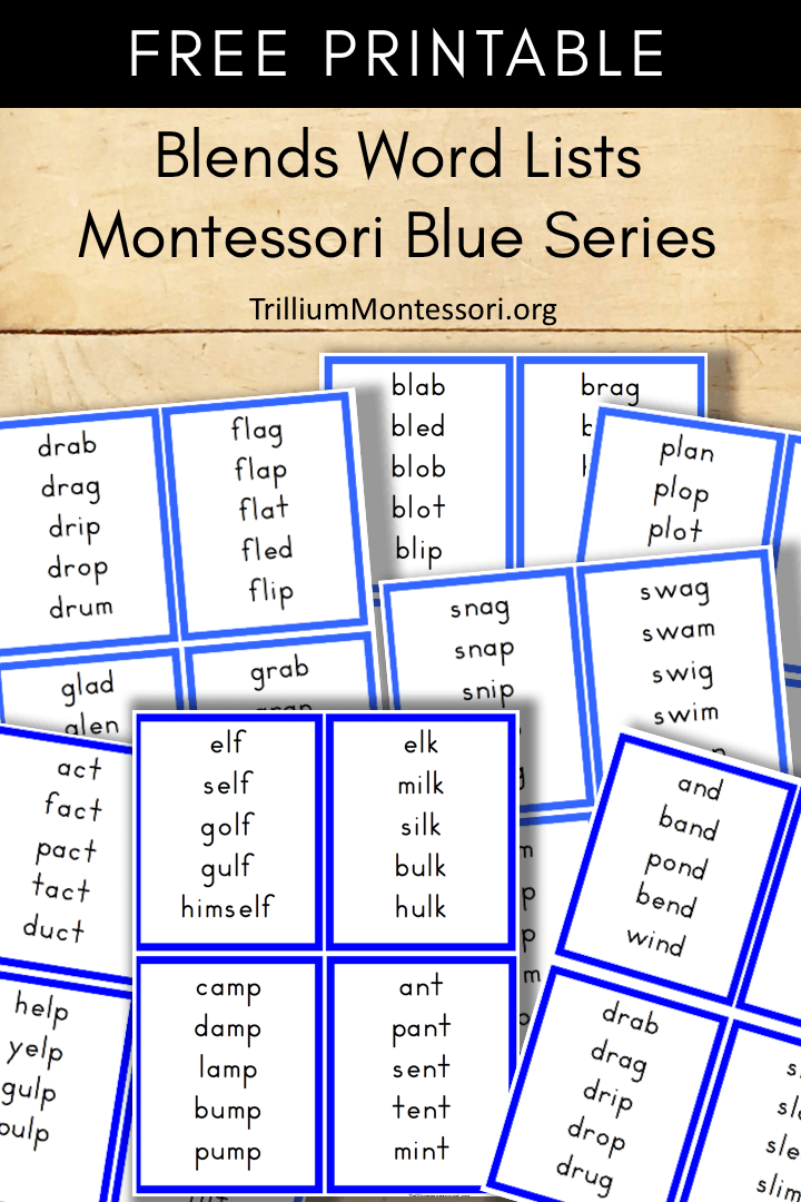 Free Printable Montessori Blue Series