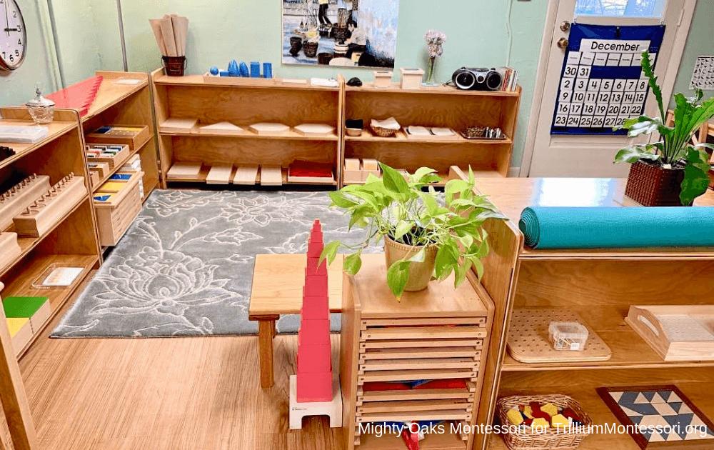 Erin's Montessori Classroom Setup: Sensorial Area