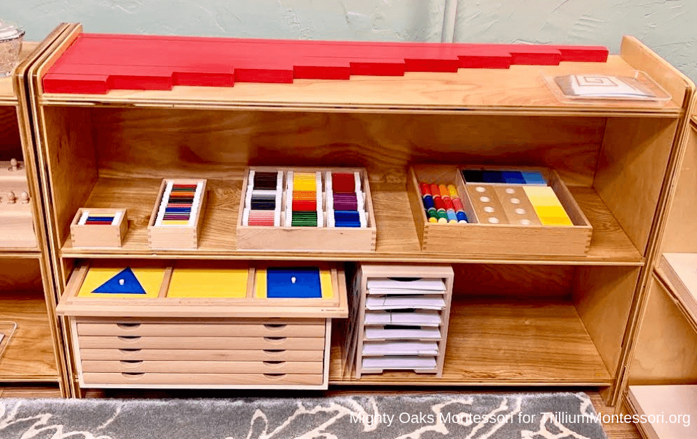 Erin's Montessori Classroom Setup Sensorial Red Rods and Color Boxes
