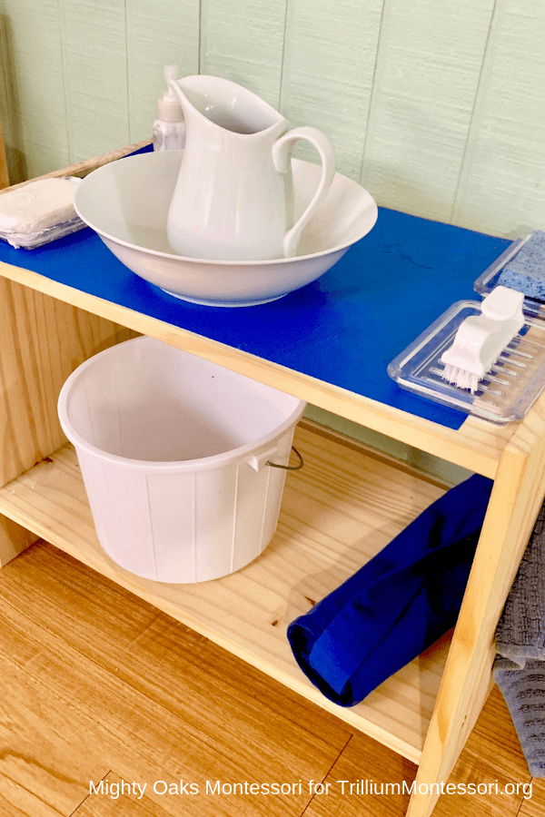 Erin's Montessori Classroom Setup Handwashing Stand