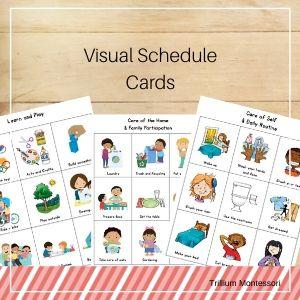 Coronavirus bonus thumbnails visual schedule